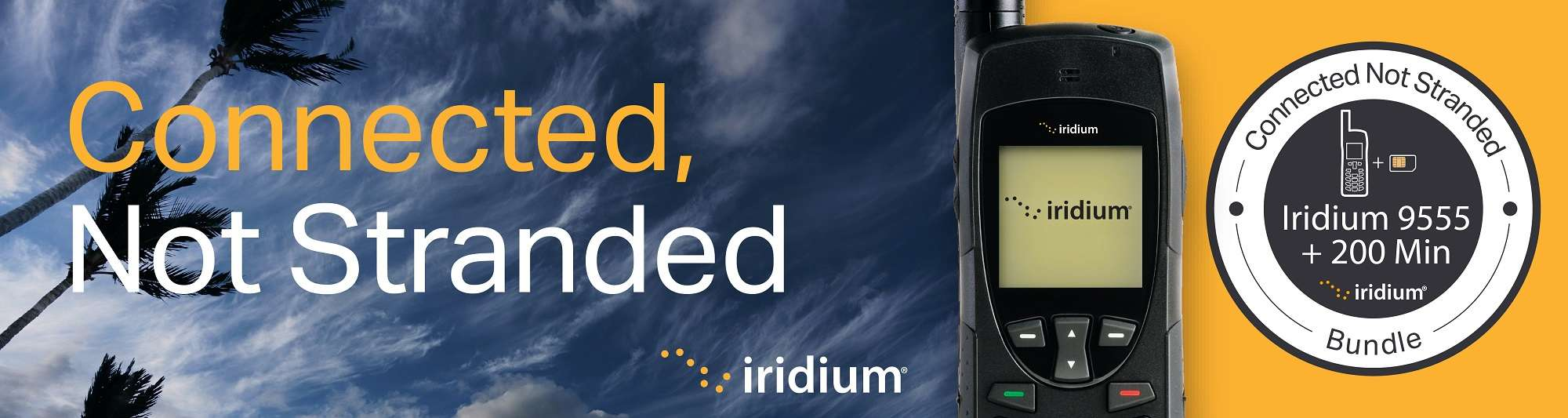 Iridium Connected Not Stranded Banner