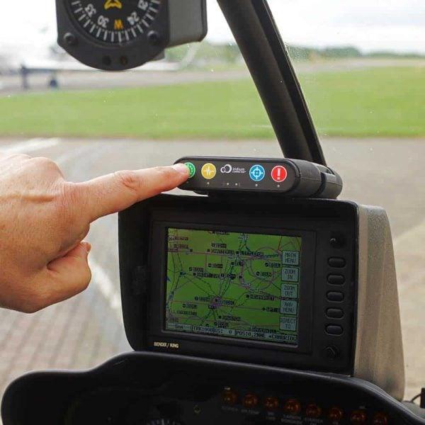 RockAIR Tracking Device in Cockpit