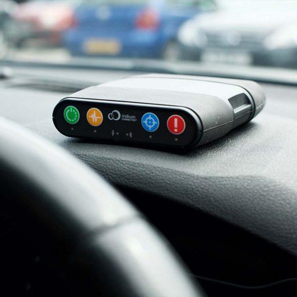 RockAIR Tracking Device on Dashboard